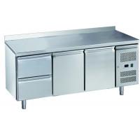 Kühltisch ECO 2/2 mit Aufkantung - GN 1/1