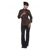 Damenkochjacke Larissa, hellbraun, Größe: 44