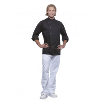 Herrenkochjacke Lars, schwarz, Größe: 66