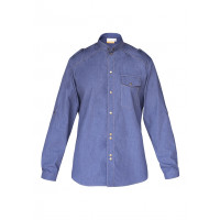 Herrenkochhemd Jeans 1892 California, vintage blue, Größe: 64