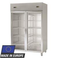 Kühlschrank Profi 1400 GN 2/1 - mit 2 Aggregaten und 2 Glastüren