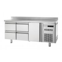 Kühltisch Premium 1/4 mit Aufkantung - EN 600x400