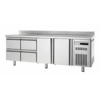 Kühltisch Premium 2/4 mit Aufkantung - EN 600 x 400