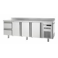 Kühltisch Premium 3/2 mit Aufkantung - EN 600x400