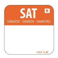 Wochentagetiketten Sa/orange entfernbar - 1.000 Stück