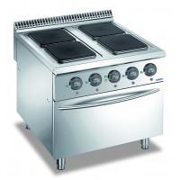 Elektroherd Dexion Lux 980 - 80/90 quadratische Kochfelder mit Elektrobackofen