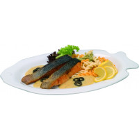 Teller, Fisch, weiß, 32 cm