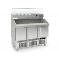 Pizzatisch PROFI Mini 3/0 mit Kühlaufsatz