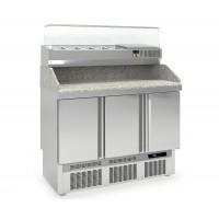 Pizzatisch PROFI 3/0 Mini mit Kühlaufsatz - Plus