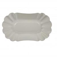 Papp-Schale, oval, 10,5x20 cm, beschichtet, weiß - 250 Stück