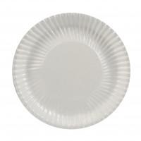 Papp-Teller, rund, Ø23 cm, beschichtet, weiß - 100 Stück