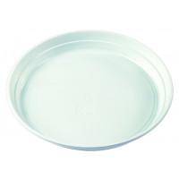 Menü-Teller, Polypropylen, Ø21,9 cm, ungeteilt, ohne Anfasser - 100 Stück