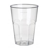 Papstar Glas für Caipirinha, Polystyrol, 0,2 l, glasklar - 25 Stück
