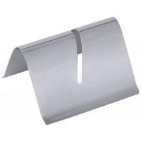 Kartenhalter mit Schlitz aus Edelstahl 18/10, Breite 5 cm, Höhe 3 cm