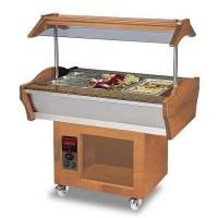 Gastro Buffet HOT, 1200 x 900 x 850 / 1350 mm, GN 3/1 - ohne Behälter