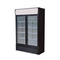 Getränkekühlschrank ECO 278 mit Leuchtaufsatz und Schiebetüren
