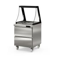 Coreco Saladette US 700 - 0/2 mit Glasaufsatz