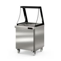 Coreco Saladette US 700 - 1/0 mit Glasaufsatz