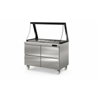 Coreco Saladette US 1200 - 0/4 mit Glasaufsatz