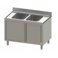 Spülschrank Eco mit 2 Becken mittig