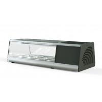 Sushi Vitrine PROFI 4x1/3GN - eckiges Glas