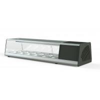 Sushi Vitrine PROFI 6x1/3GN - eckiges Glas