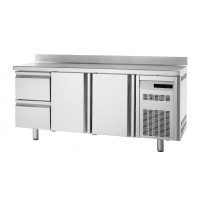 Tiefkühltisch Premium 2/2 mit Aufkantung