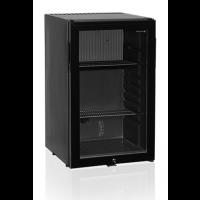 Minibarkühlschrank 52 schwarz mit Glastür