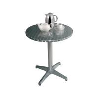 Edelstahl Bistrotisch Bolero rund, 1 Bein, Durchmesser 80 cm