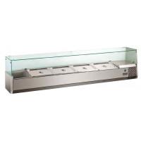 Kühlaufsatz ECO 4x GN 1/3 + 1x GN 1/2 mit Glasaufsatz