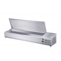 Edelstahl-Kühlaufsatz ECO 8 x GN 1/4