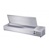 Edelstahl-Kühlaufsatz ECO 7x GN 1/3