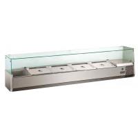 Kühlaufsatz ECO 8x GN 1/4 mit Glasaufsatz 1800 mm